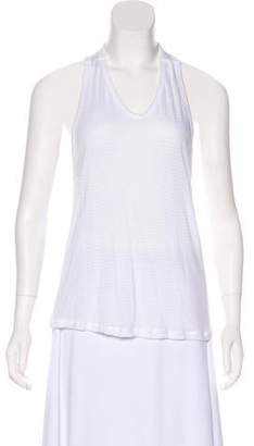 Alexander Wang Semi-Sheer Halter Sleeveless Tank Top