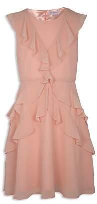 BCBGirls Girls' Ruffled Chiffon Dress - Big Kid