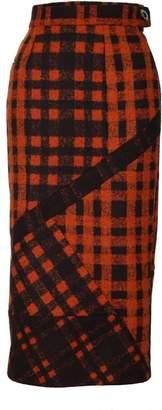 Jiri Kalfar Orange Pencil Skirt