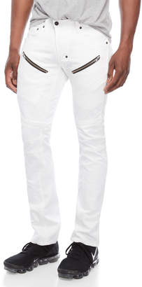 PRPS White Accruals Zip Jeans