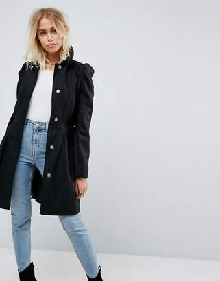 Asos Skater Coat with Statement Sleeve
