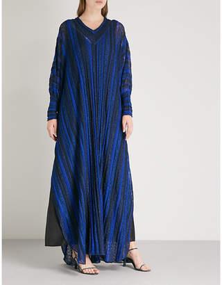 Missoni Metallic-knitted maxi kaftan
