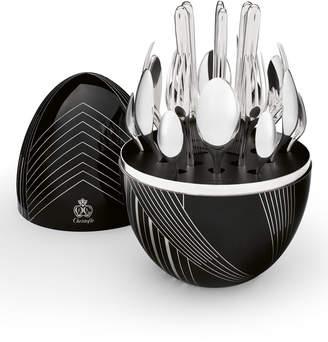 Christofle Mood Karl Lagerfeld Limited Edition 24-Piece Flatware Service - Black