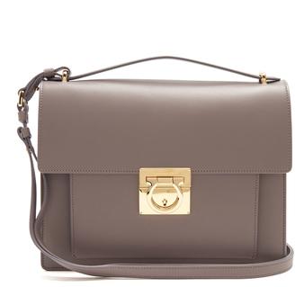 SALVATORE FERRAGAMO Marisol Rubin leather shoulder bag $1,496 thestylecure.com