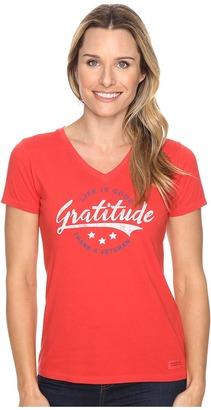 Life is good Veteran Gratitude Script Crusher Vee $26 thestylecure.com