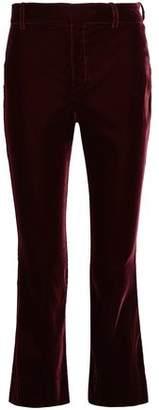 Derek Lam 10 Crosby Cropped Velvet Bootcut Pants