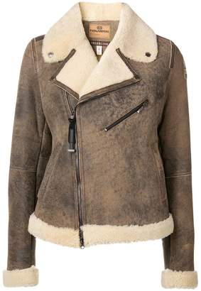 ... Parajumpers shearling biker jacket