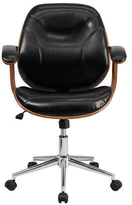Trent Austin Design Aida High-Back Leather Desk Chair Headrest Included: No