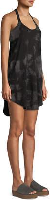 ATM Anthony Thomas Melillo Tie-Dye Scoop-Neck Racerback Cotton Tank Dress