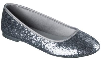 Girl's Cherokee® Fleta Glitter Ballet Flat - Pewter