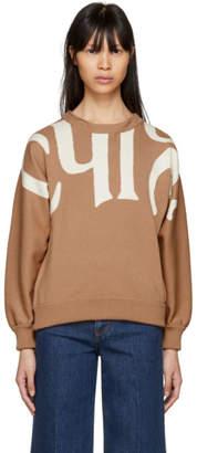 Chloé Pink Writing Crewneck Sweater