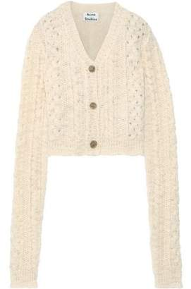 Acne Studios Cropped Cable-knit Wool Cardigan