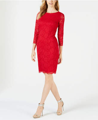 Calvin Klein Petite Lace Sheath Dress