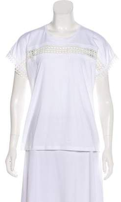 Burberry Lace-Trimmed Short Sleeve Top w/ Tags