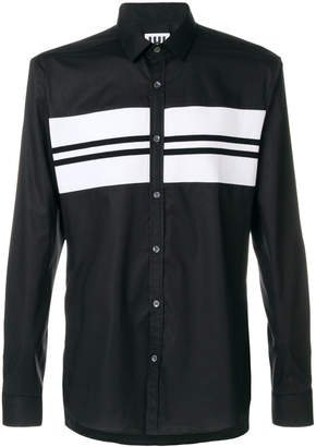 Les Hommes Urban stripe detail shirt