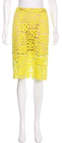 Trina Turk Lace Knee-Length Skirt