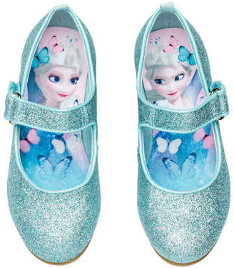 H&M Glittery dressing up shoes - Turquoise
