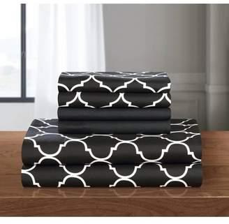 Chic Home Tymon 4-Piece Bedding Sheet Set with 1 Bonus Pillowcase