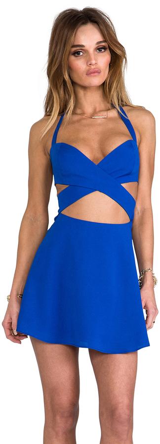 Naven x REVOLVE Criss Cross Cut Circle Skirt Dress