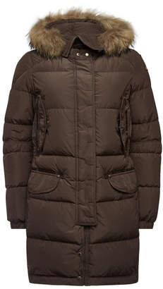 Parajumpers Harraseeket Down Parka with Fur-Trimmed Hood