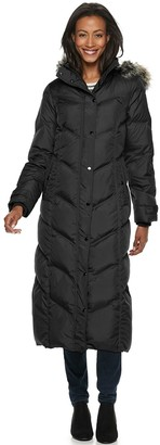 London Fog Tower By Women's TOWER by Faux-Fur Long Down Puffer Coat