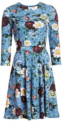 Erdem Dione Fit-&-Flare Floral Dress