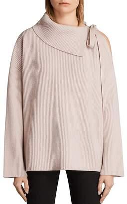 AllSaints Sura Cutout Rib-Knit Sweater