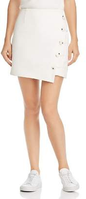 Finders Keepers Mila Asymmetric Button-Front Skirt