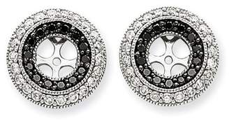 Black Diamond Jewelrypot 14kw Gold 1.00ct Earring Jackets (5.75mm Opening for 0.75ct Stone) (0.5IN x 0.5IN )