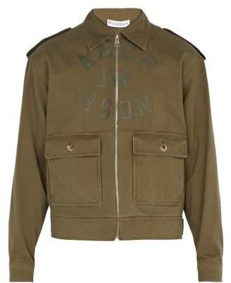 J.W.Anderson Printed Logo Cotton Jacket - Mens - Khaki