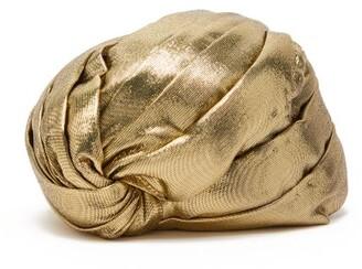 Gucci Lame Turban Hat - Womens - Gold