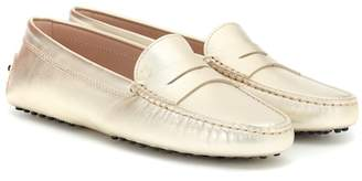 02e38038f2a Tod s Gommino metallic leather loafers