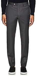 Officine Generale MEN'S VIRGIN WOOL TAILORED TROUSERS-GRAY SIZE 48 EU