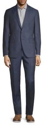 Modern Fit Two-Piece Pinstripe Wool Suit
