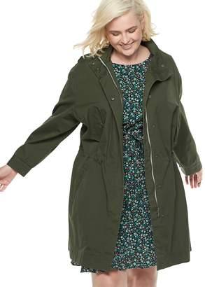 Popsugar Plus Size POPSUGAR Drop-Shoulder Anorak Jacket
