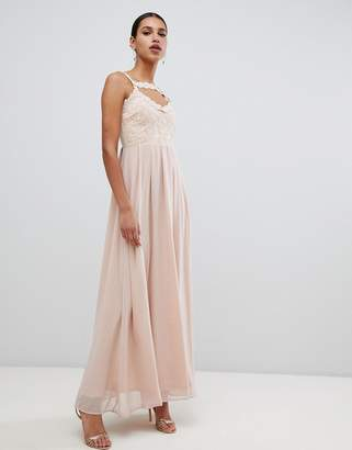 AX Paris maxi dress with cross chest detail