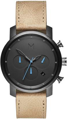 MVMT Chrono Chronograph Leather Strap Watch, 40mm