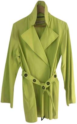 Ramosport Green Cotton Trench Coat for Women Vintage