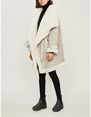 SHOREDITCH SKI CLUB Mora suede and shearling parka