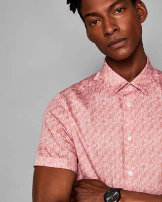 PALMGO Leaf print cotton shirt