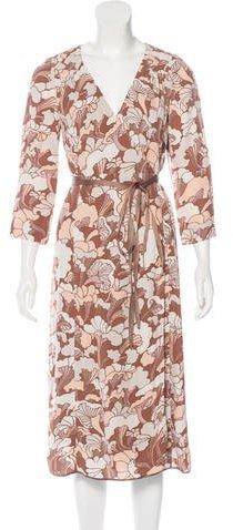 Marc JacobsMarc Jacobs Floral Print Wrap Dress