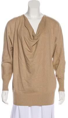 Lafayette 148 Metallic Cowl Neck Sweater
