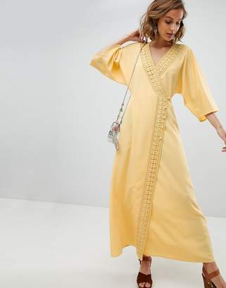 Asos Design DESIGN maxi dress with crochet trim