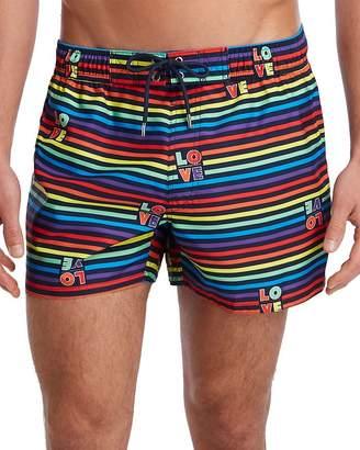 2xist Essential Ibiza Rainbow-Print Swim Shorts