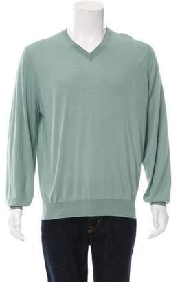 Brunello Cucinelli Cashmere-Blend V-neck Sweater