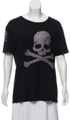 Alexander McQueen Embellished Scoop Neck T-Shirt