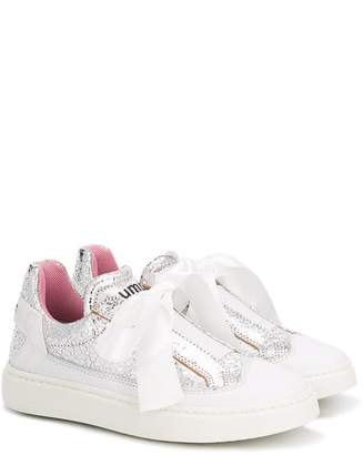 Bumper textured bow detail sneakers