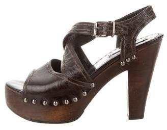 Prada Platform Ankle Strap Sandals