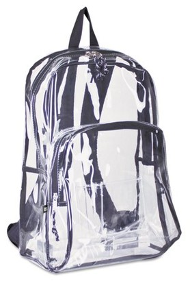 clear Eastsport Two Compartment PVC Plastic Backpack