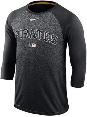 Nike Men Pittsburgh Pirates Ac Cross-Dye Raglan T-Shirt